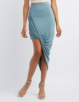 Charlotte Russe Draped Asymmetrical Skirt