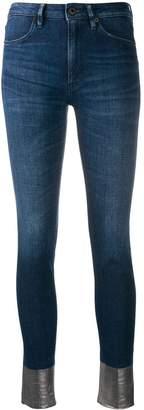 Dondup metallic cuff skinny jeans