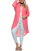 Coral Open Duster - Plus