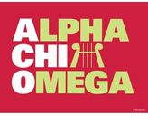 Dormify Alpha Chi Omega Stacked Print