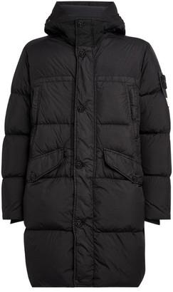 Stone Island Longline Padded Hooded Jacket