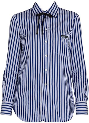 Prada Pinstripe Cotton Shirt