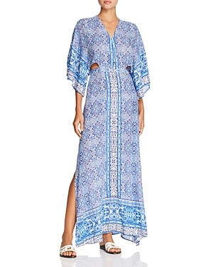 Surf.Gypsy Paisley Maxi Dress Swim Cover-Up