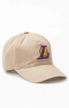 Mitchell & Ness Tan Los Angeles Lakers Strapback Dad Hat