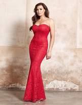 Jessica Wright Fishtail Bandeau Maxi Dress