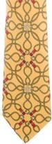 Hermes Equestrian Rope Print Silk Tie