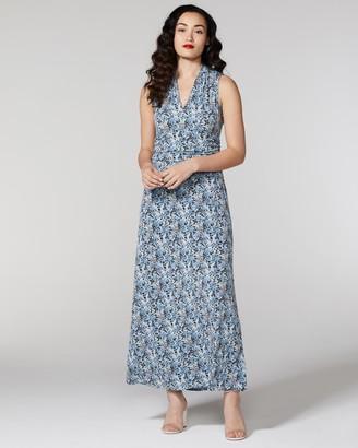 Vince Camuto Peony-Print Jersey Maxi Dress