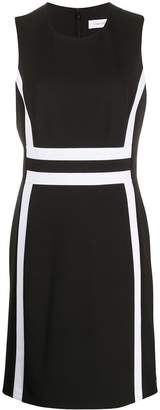 Calvin Klein contrasting panel midi dress