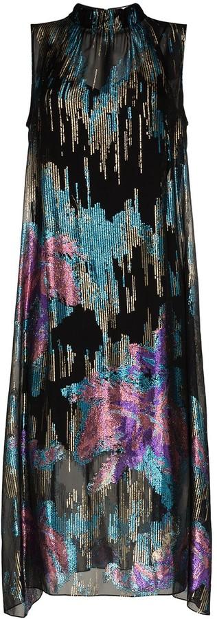 Peter Pilotto Sequinned Sleeveless Midi Dress