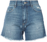 Anine Bing high waisted denim shorts - women - Cotton - XS