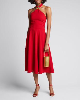 Ralph Lauren Arleen Beaded Halter-Neck Dress