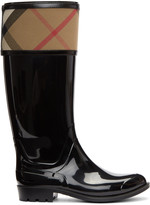 Burberry Black Croshill Rain Boots