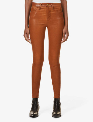 Frame Le High Skinny skinny leather trousers