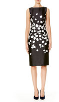 Carolina Herrera Petal-Print Sateen Sheath Dress