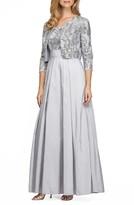 Alex Evenings Women's Embellished Ballgown With Bolero Jacket