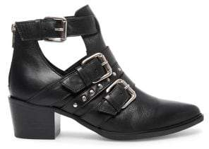 Steve Madden Steven Buckled Leather Booties