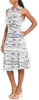 Antonio Melani Grabel Printed Shadow Stripe Dress