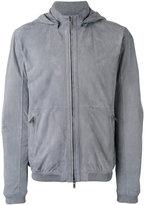 Desa 1972 - zip up hooded jacket - men - Cotton/Chamois Leather - 52