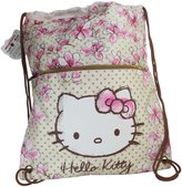 Hello Kitty Magnolia Drawstring Gym Backpack Daypack Travel Bag Slim