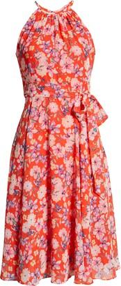 Brinker & Eliza Floral Print Halter Neck Dress