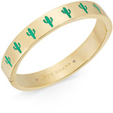 Kate Spade Gold-Tone Green Cactus Hinged Bangle Bracelet