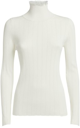 Claudie Pierlot Ribbed High-Neck Top