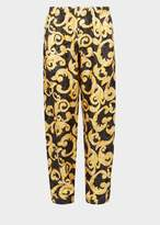 Versace Barocco Istante Print Silk Pyjamas