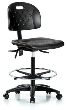 Symple Stuff Allyssa Drafting Chair Casters/Glides: Casters, Tilt Function: Included