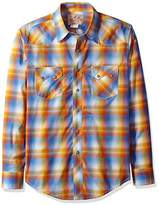 Wrangler Men's Western Plaid Snap Woven Shirt