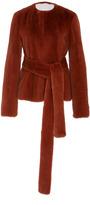 Brock Collection Fe Fur Tie Mink Coat