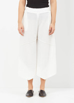 Issey Miyake white fold knit culottes