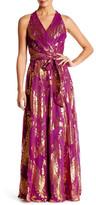 Chetta B Metallic Maxi Dress
