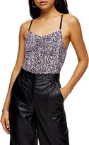 Topshop Ruched Spot Print Bodysuit
