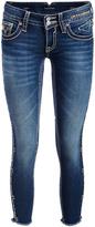 Vigoss Medium Wash Dublin Double-V Denim Skinny Jeans