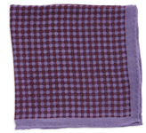 Black Brown 1826 Checked Pocket Square