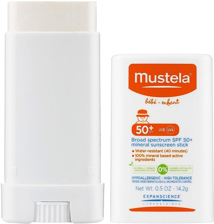 Mustela Broad Spectrum SPF 50+ Mineral Sunscreen Stick