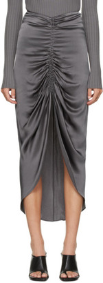 Dion Lee Grey Gather Tie Skirt