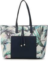 Kelly & Katie Iboeria Core Tote -Navy/White Tropical Print Faux Leather - Women's