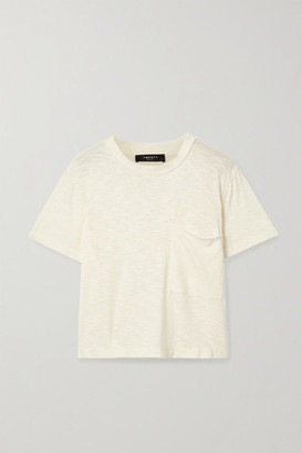 Twenty Montreal Brooks Cropped Slub Jersey T-shirt - Cream