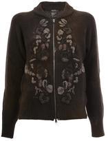 Avant Toi floral knit zipped cardigan - women - Viscose/Wool/Merino/Cashmere - S