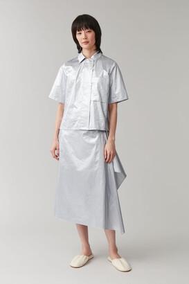 Cos Metallic Cotton Shirt