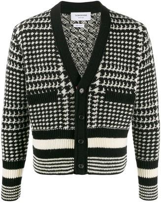 Thom Browne Intarsia-Knit Cardigan