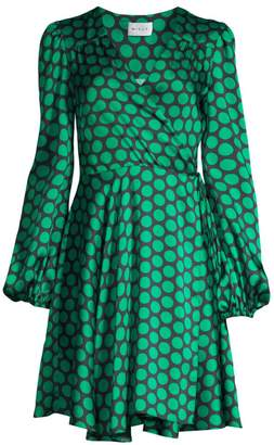 Milly Siena Dotted Wrap Dress