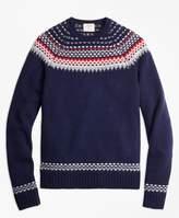 Brooks Brothers Nordic Fair Isle Crewneck Sweater