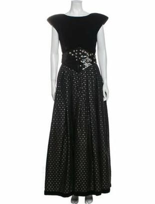 Valentino Vintage Long Dress Black