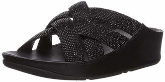 FitFlop Women's Lattice Crystal Cross Slide Sandal