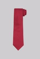 Savoy Taylors Guild Red & Sky Geo Silk Tie