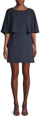 BCBGMAXAZRIA Jamey Short Cape-Sleeve Dress