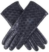 Black Woven Nappa Leather Gloves