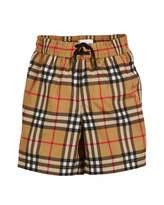 Burberry Galvin Check Swim Shorts, Size 3-14